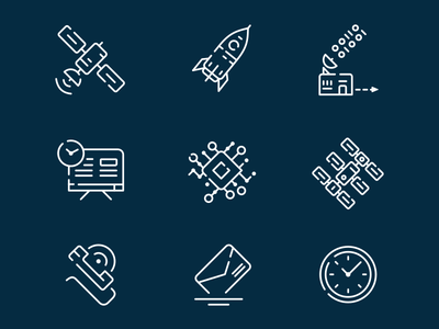 Icon Set for Web-project (space exploration) icon vector illustration design