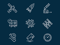Icon Set for Web-project (space exploration)