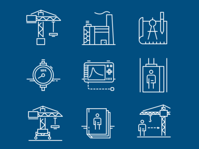 Icons set for industrial website icons design icons pack icons set icons illustration vector