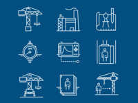 Icons set for industrial website