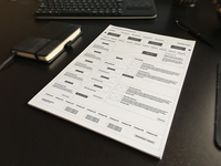 Wireframes for project