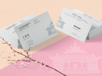 Business card design for Academic Journal