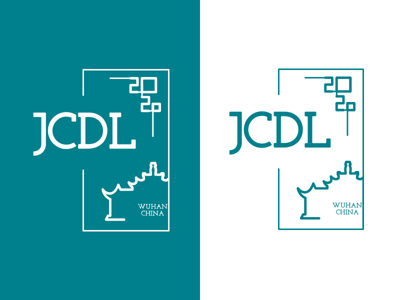Logo design for JCDL 2020 wuhan university chinese knot window traditional china jcdl