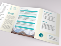 Conference A5 trifold leaflet (JCDL 2020)