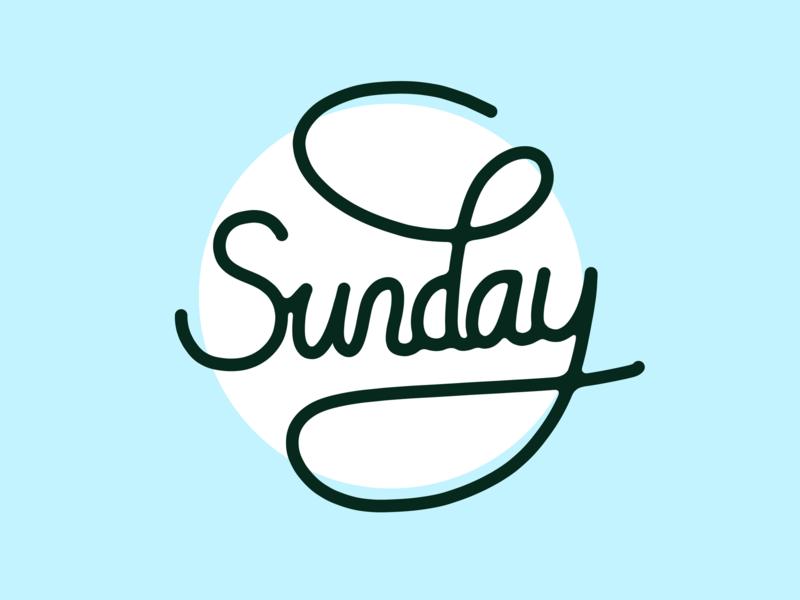 Sunday sun blue sky handlettering lettering sunday procreate