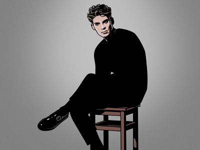 Male Model procreate black fashion model male minimal illustration