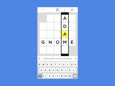Personal Approach to NYT Crossword App