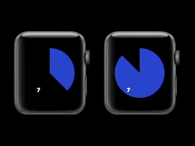 Apple Watch Clock UI