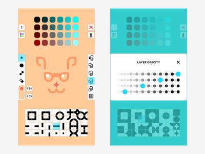 Quick Icon 2.0 pixel art studio icon color interface design ux mobile app ui ios