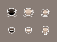 Icons for a Coffee app