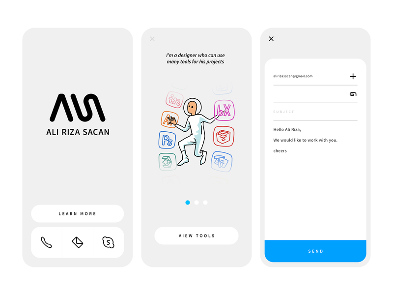 Personal Project prototype mail mobile icon illustration design interface ux ui app