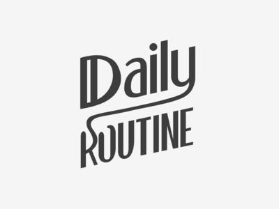 Daily Routine Lettering routine daily procreate typography logo lettering