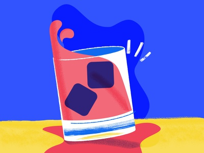 Salud vector whiskey illustration glass