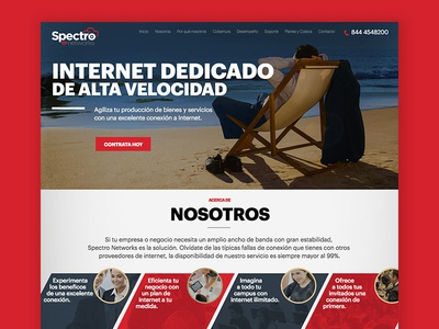 Spectro Networks - Landing Page