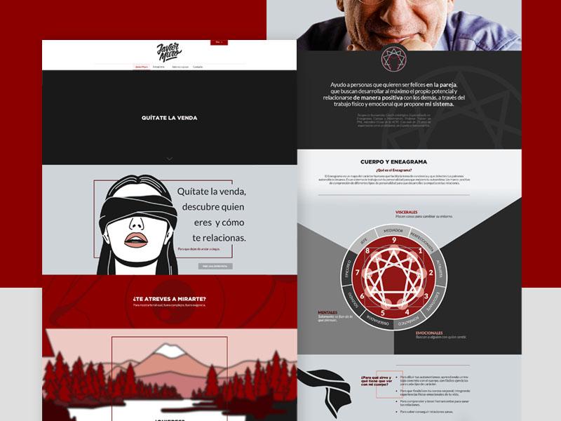 Javier Muro - Landing Page responsive laptop landing page web design design digital ux ui eneagrama website