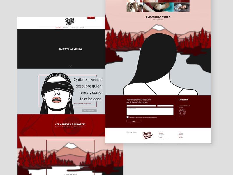 Javier Muro Website1 responsive laptop illustration web design design digital business ux ui eneagrama website