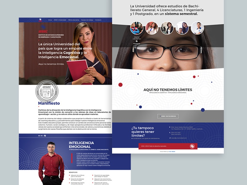 IESEC website saltillo responsive laptop education web design design digital university ux ui iesec website
