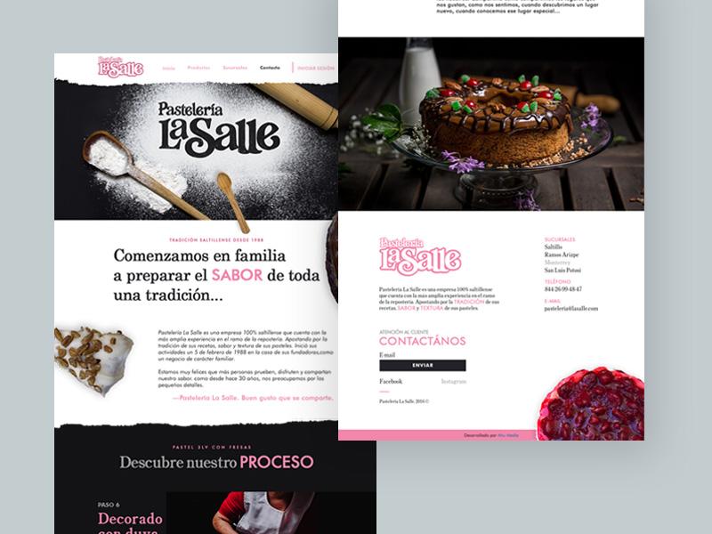 Pastelería La Salle - Home home page responsive laptop cakes web design design ux ui website