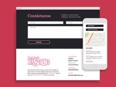 Pastelería La Salle - Contact