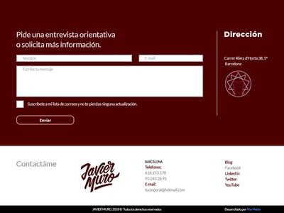 Javier Muro website - contact