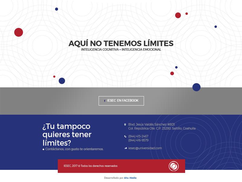IESEC website - Footer responsive desktop contact web design design university education ux ui laptop website