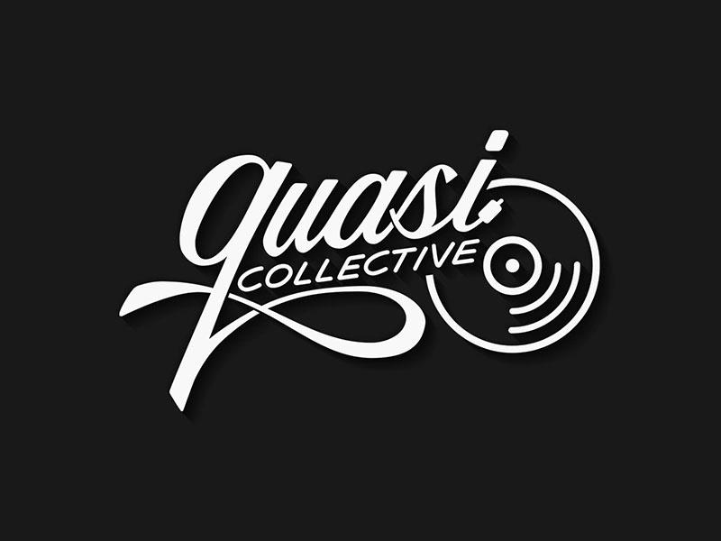Quasi Collective vynil disc label record branding typography lettering logotype logo