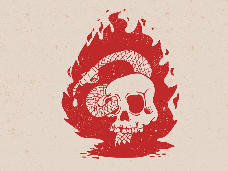 Freedom is a full tank kustom kulture motorcycle art grunge flame skull illustration vector