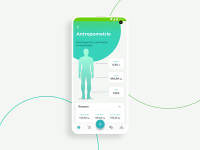Anthropometry screen - Dietbox Patient app 2019