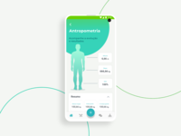 Anthropometry screen - Dietbox Patient app 2019