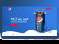 Pepsi Landing Page Concept