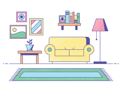 welcome to my home colors spring rug couch home furniture house flat texture design vector illustration