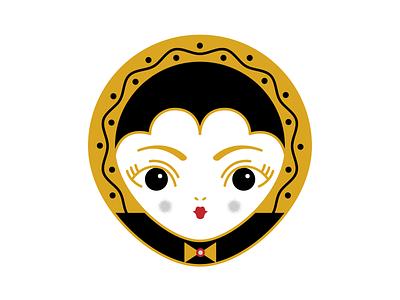 vampire grl girl vampire pins pin texture design vector illustration