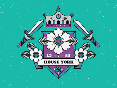 house york - the white rose white rose crown royalty crest monarchy game of thrones war of the roses flowers texture vector illustration