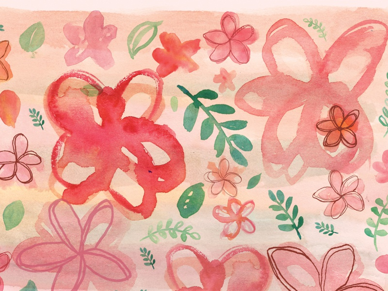 Kamboja bali watercolor illustration flower