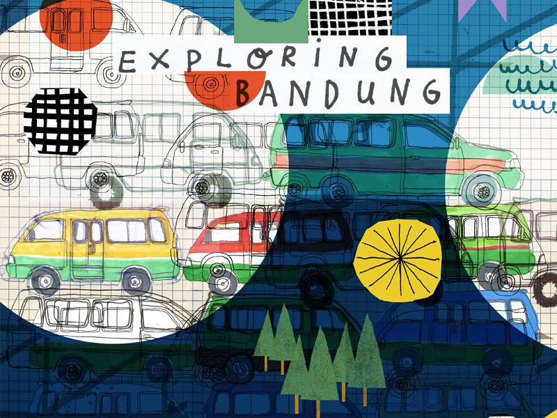 Exploring Bandung by Angkot graphic design angkot bandung illustration