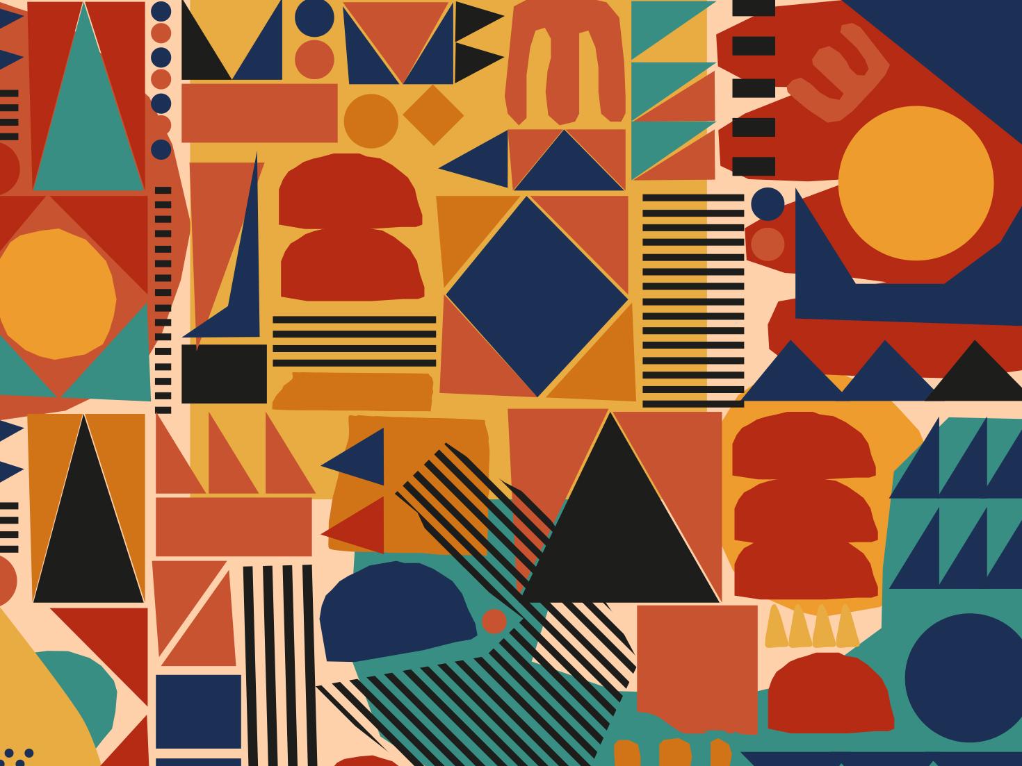 Scattered illustration surface design pattern design pattern
