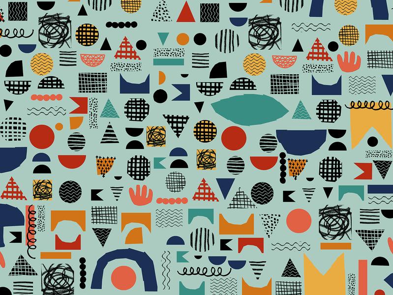 Scattered 2 surface design doodle illustration fabric pattern fabric design fabrics pattern design pattern