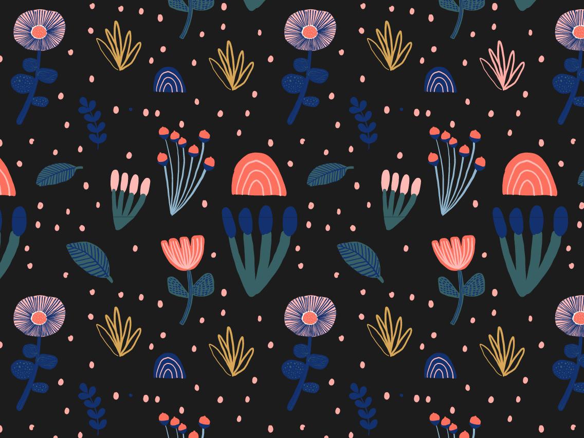Flower surface design doodle illustration fabric pattern fabric design fabrics pattern design pattern