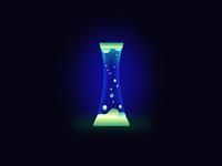 Glowing Lava Lamp