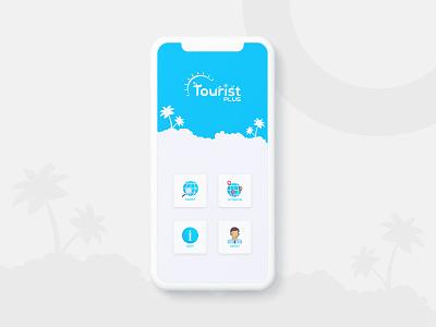 Tourist Plus travel app design mobie app design tourist travel ui  ux design
