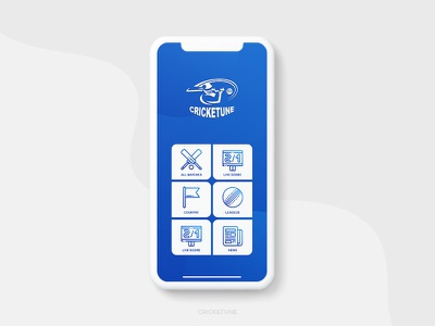 CRICKETUNE App ui ux designer ui  ux design uidesign cricket matches design cricket app fixtures cricket