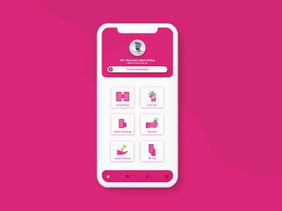 Bkash App Redesign flat design payment app mobile app design redesign bkash app bkash ux design ui design mobile app minimal app ios flat design app