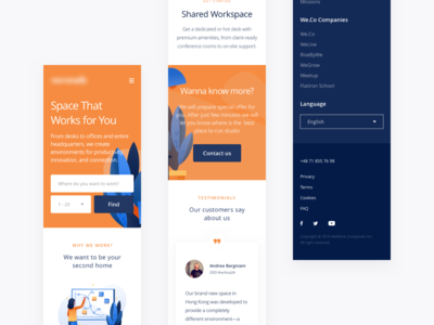 Mobile version of shared workspace concept.