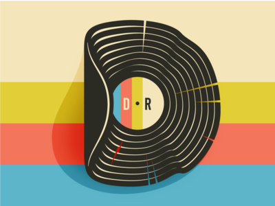 DodgewrightRecords e-commerce shop illustration logo record record store