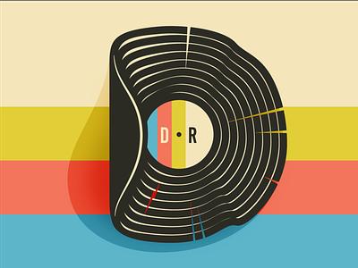 DodgewrightRecords e-commerce shop illustration logo record record store