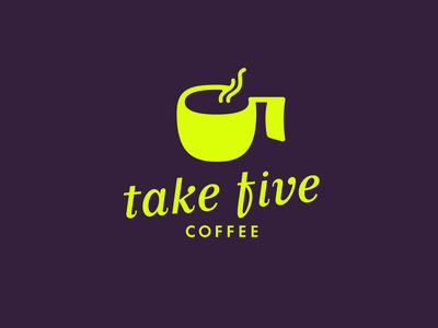 take five coffee logo coffee numeral logo number 5