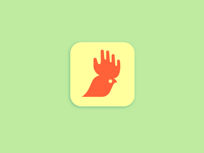 Chooster Portfolio double meaning animal app hand rooster logo