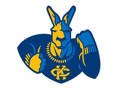 UMKC Roo college animal kangaroo logo illustration mascot design
