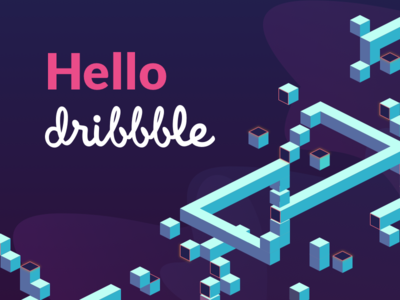 Hola Dribbble first shot impossible dream color geometry hello debut