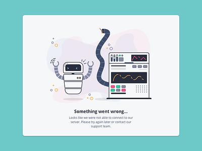 Something went wrong 404 crash illustration empty data error